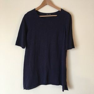 Eileen Fisher Navy Blue Tunic Top
